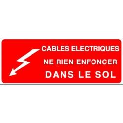 Cables Electriques Ne Rien Enfoncer Dans le Sol