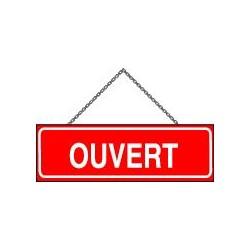 Panneau Recto/Verso avec chainette OUVERT/FERME