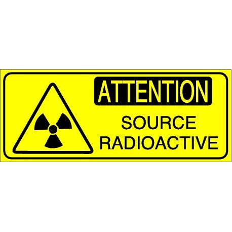 Panneau Attention Source Radioactive