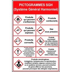 Panneau Pictogrammes SGH