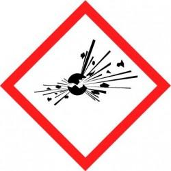 Etiquettes adhésives SGH produits qui peuvent exploser