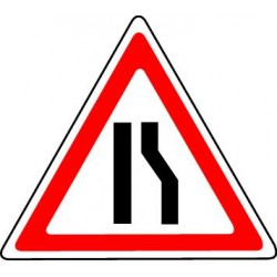 Panneau Chaussée rétrécie par la droite