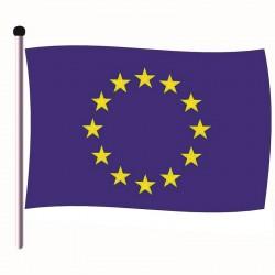 Pavillon Union Européenne en Tissu maille 100% polyester 50 x 75 cm