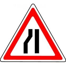 Panneau Chaussée rétrécie par la gauche