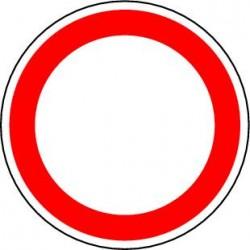 Circulation interdite à tout véhicule dans les deux sens