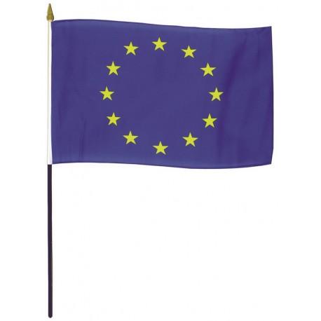 Drapeau Union Européenne en tissu maille 100% polyester 40 x 50 cm