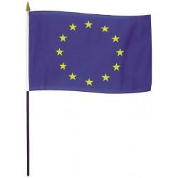 Drapeau Union Européenne en tissu maille 100% polyester 50 x 75 cm