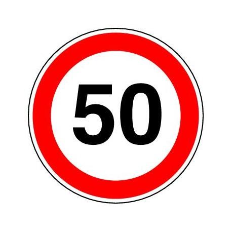 Panneaux alu Limitation de vitesse. Ce panneau notifie l'interdiction de dépasser la vitesse indiquée