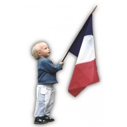 Drapeau France en tissu maille 100% polyester 40 x 50 cm
