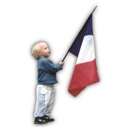 Drapeau France en tissu maille 100% polyester 50 x 75 cm