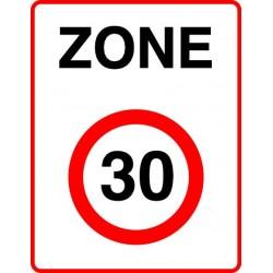 Entrée d'une zone à vitesse limitée à 30 km/h