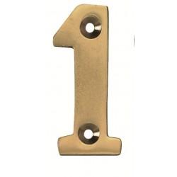 Numéro de Rue en Laiton Poli