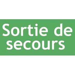 ETIQUETTE ADHESIVE POUR BLOCS AUTONOMES D'ECLAIRAGES DE SECURITE