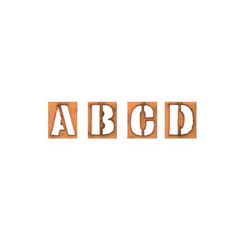 44 pochoirs lettres et chiffres hc 25 mm reutilisables. Black Bedroom Furniture Sets. Home Design Ideas