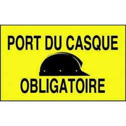 PANNEAU DE CHANTIER ECO : PORT DU CASQUE OBLIGATOIRE