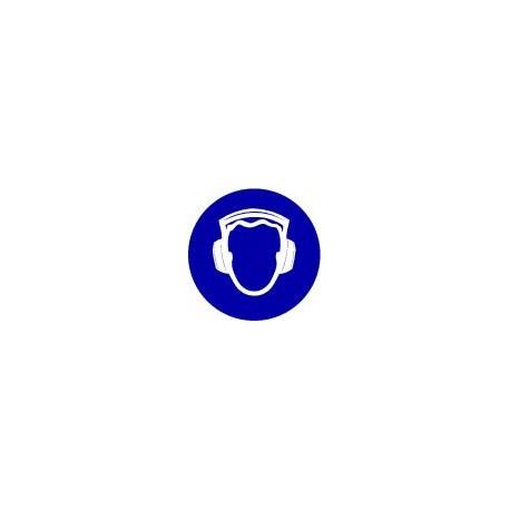 PLANCHE DE 6 MINI PICTOGRAMMES ADHESIFS POTECTION ANTI-BRUIT OBLIGATOIRE