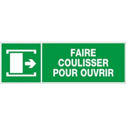 PANNEAU FAIRE COULISSER POUR OUVRIR