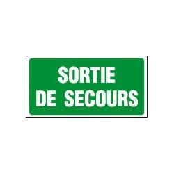 PANNEAU GRAND FORMAT SORTIE DE SECOURS