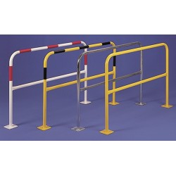 BARRIERE A PLATINE TUBE ø 60 MM - LONGUEUR 2 M - 8 BANDES FLUO