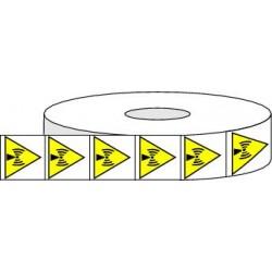 Pictogrammes adhésifs de danger radiations non ionisantes