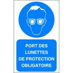 Panneau Port des Lunettes de Protection Obligatoire
