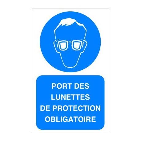 Panneau Port des Lunettes de Protection Obligatoire - Panosur fc4476ba833a