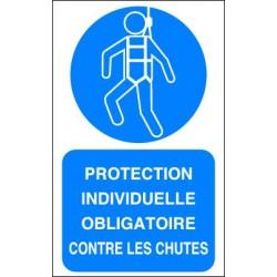 Panneau Protection Individuelle Obligatoire contre les Chutes