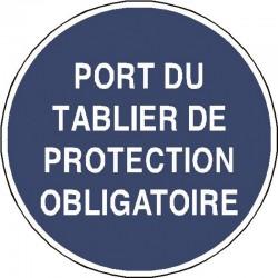 Panneau Port du Tablier de Protection Obligatoire