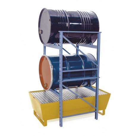 Portique porte-fûts permet le stockage horizontal des fûts