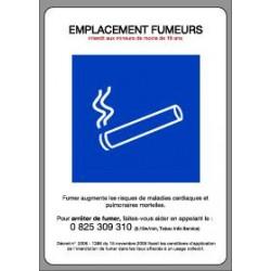 Panneau : Emplacement fumeurs