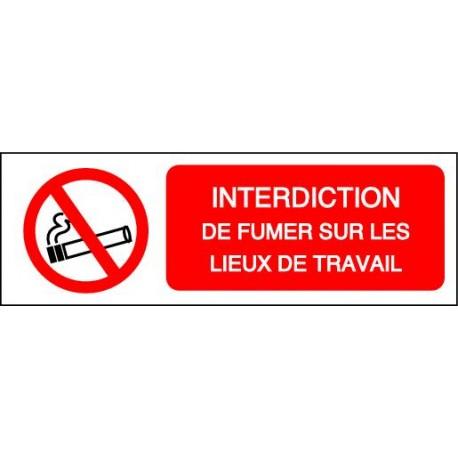 Panneau Interdiction De Fumer Sur Les Lieux De Travail