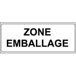 Panneau : ZONE EMBALLAGE
