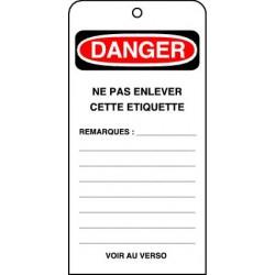 Etiquettes de Sécurité Danger Ne pas Enlever cette Etiquette
