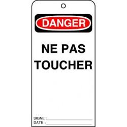 Etiquettes de Sécurité Danger Ne pas Toucher