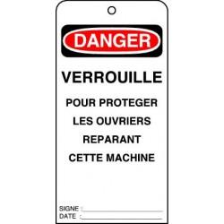 Etiquettes de Sécurité Danger Verrouillé Pour Protéger les Ouvriers réparant cette Machine