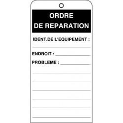 Etiquette Ordre de Réparation