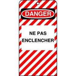 Etiquettes de Sécurité Danger Ne pas Enclencher