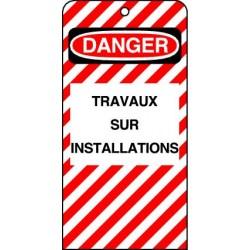 Etiquettes de Sécurité Danger Travaux sur Installations