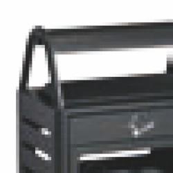 CORBEILLE-CENDRIER EXTERIEUR GRIS MANGANESE 8 + 50 L