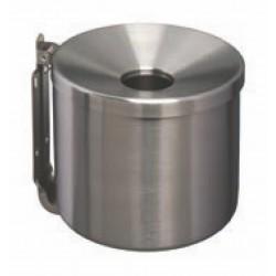 CENDRIER MURAL INOX BROSSE 2 L