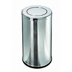 POUBELLE INOX A COUVERCLE BASCULANT 52 L
