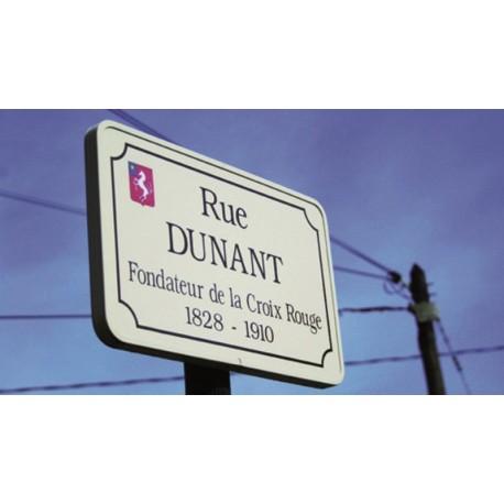 PANNEAU DE RUE EN ALUMINIUL LAQUE NON RFT DIM.500 X 300mm