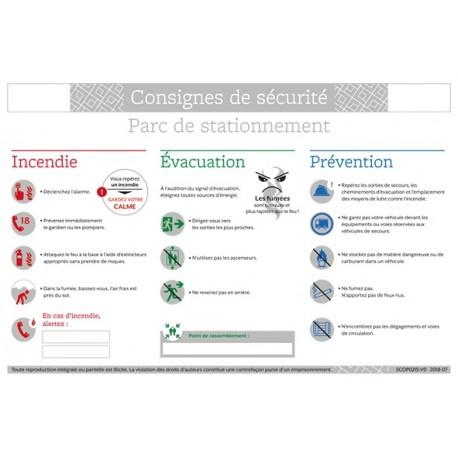 CONSIGNES DE SECURITE PARC DE STATIONNEMENT