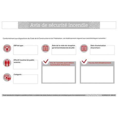 AVIS DE SECURITE ICENDIE