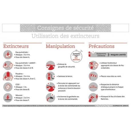CONSIGNES DE SECURITE UTILISATION DES EXTINCTEURS