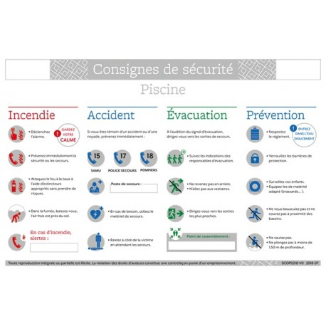CONSIGNES DE SECURITE PISCINE