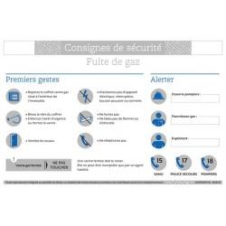 CONSIGNES DE SECURITE FUITE DE GAZ