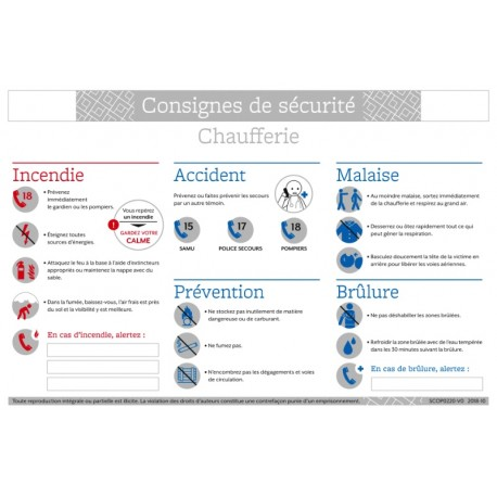 CONSIGNES DE SECURITE CHAUFFERIE
