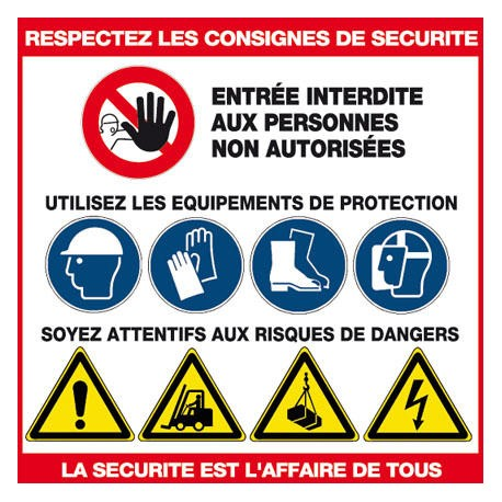RESPECTEZ LES CONSIGNES DE SECURITE 480x480MM