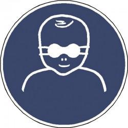 Protection opaque des yeux obligatoire pour les enfants en bas âge